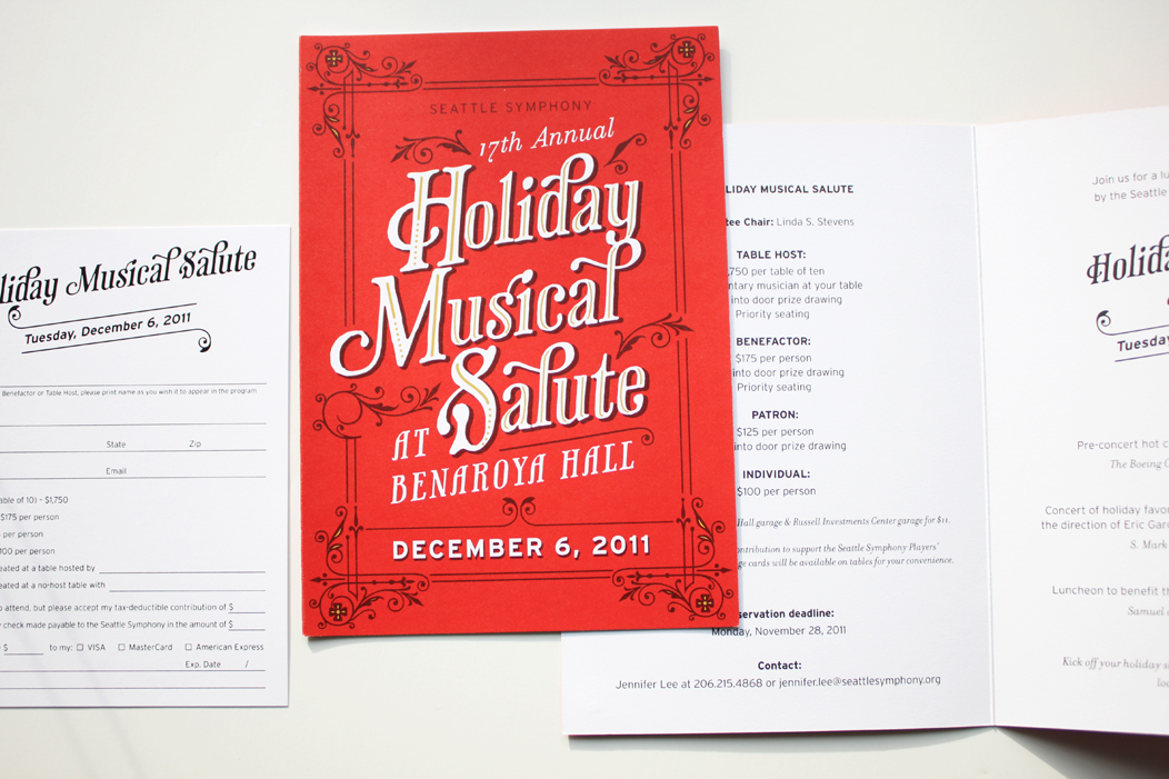 Holiday party invitation by IwonaK.com  |  #holidays #partyparty #typography #red #ohwhatfun #lettering #typography