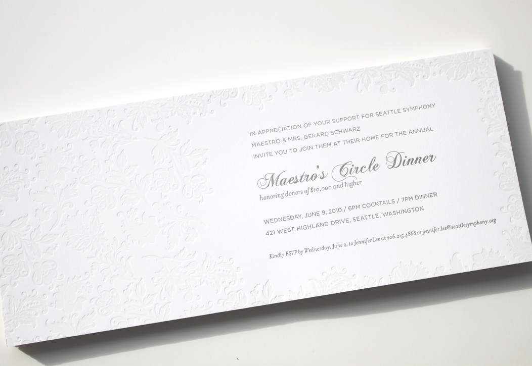 2 color #letterpress event invitation |  Designed by Iwona Konarski |  #invitation #letterpress #blindletterpress #eventstationery #stationery #branding #iwonak.com