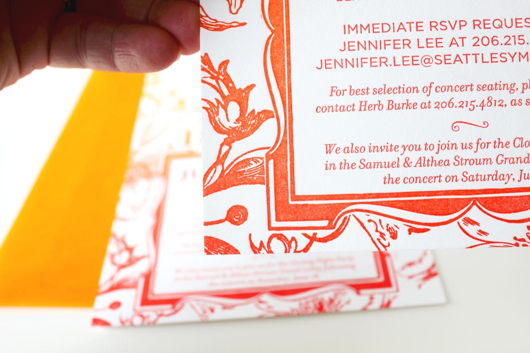 2011 Closing Night Gala letterpress invitation by IwonaK.com