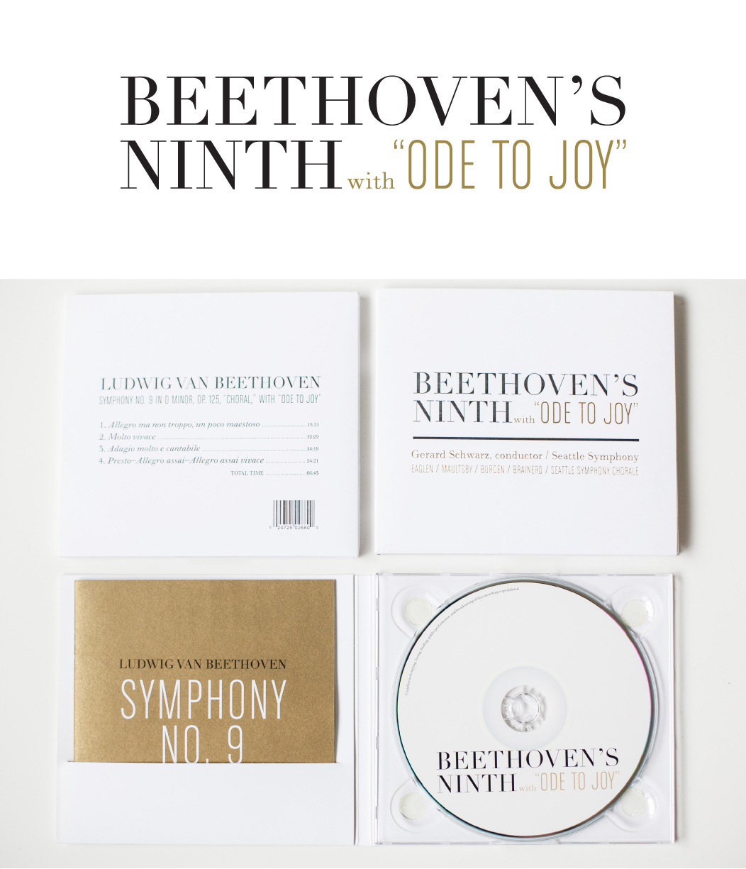 Beethovens Ninth CD Branding And Packaging