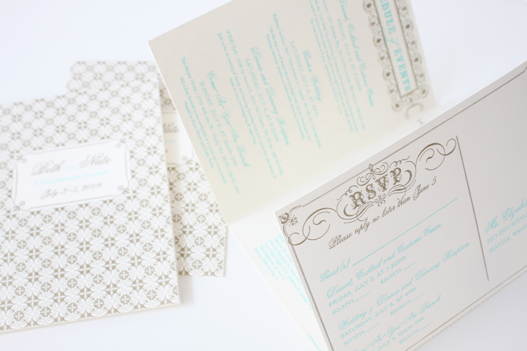 Beth Nate Wedding invitation suite by Iwona K 10