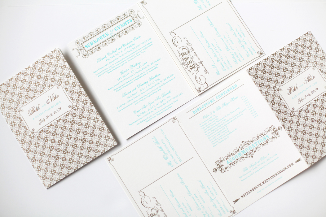 Beth Nate Wedding invitation suite by Iwona K 17