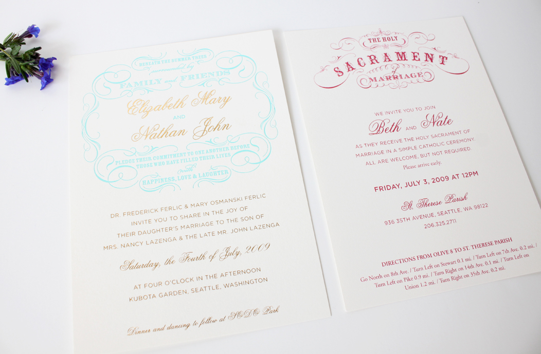 Beth Nate Wedding invitation suite by Iwona K 4