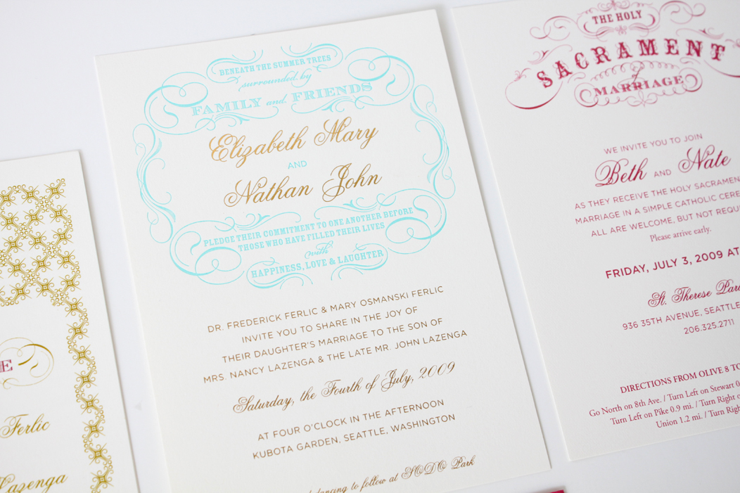 Beth Nate Wedding invitation suite by Iwona K 6