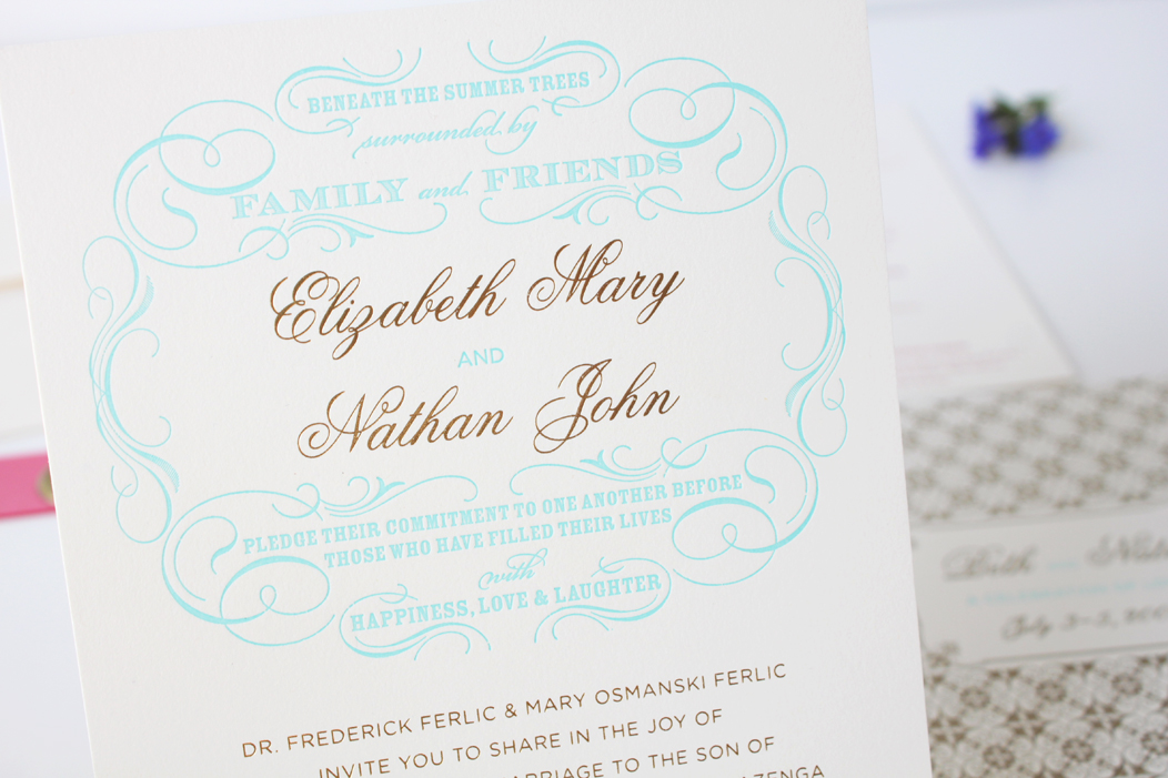 Beth Nate Wedding invitation suite by Iwona K 7