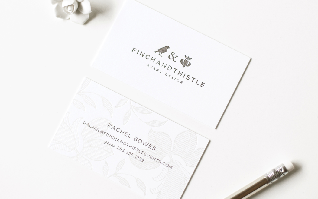 Finch And Thistle Business Cards Letterpress
