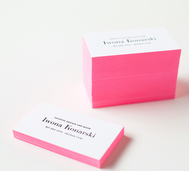 Iwona K com Business Cards