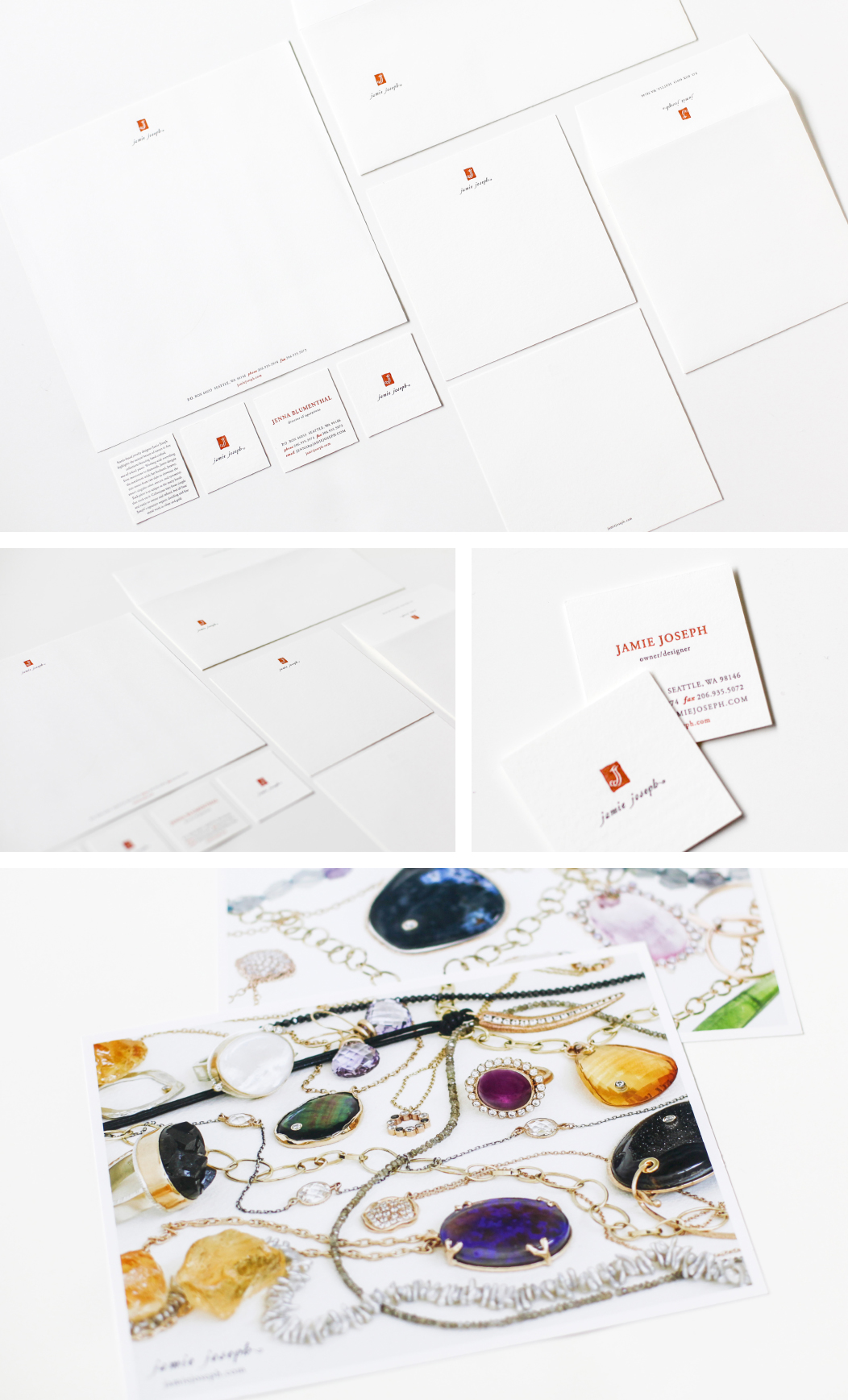 Jamie Joseph Jewelry Stationery And Branding