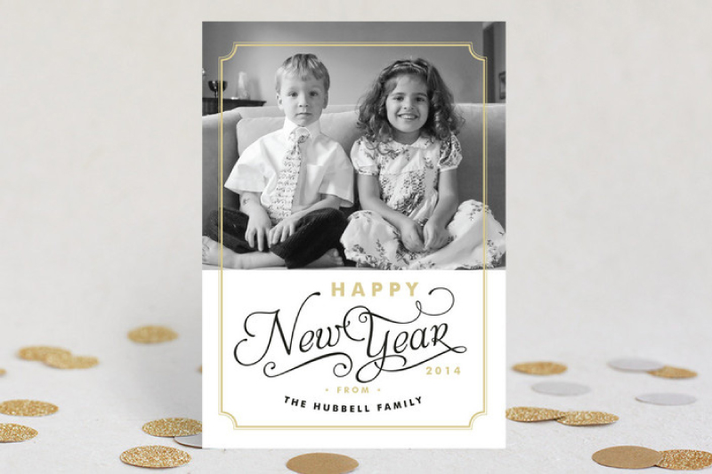 Simple Frame New Years Cards For Minted design Iwona K