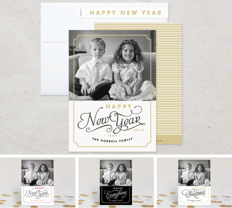 Simple Frame New Years-Cards-For Minted design Iwona K