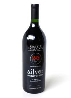 Wine Bottle Design Schwarz Anniversary