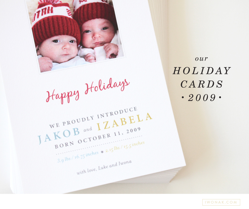 combined holiday card/birth announcement | Iwonak - Art Direction ...