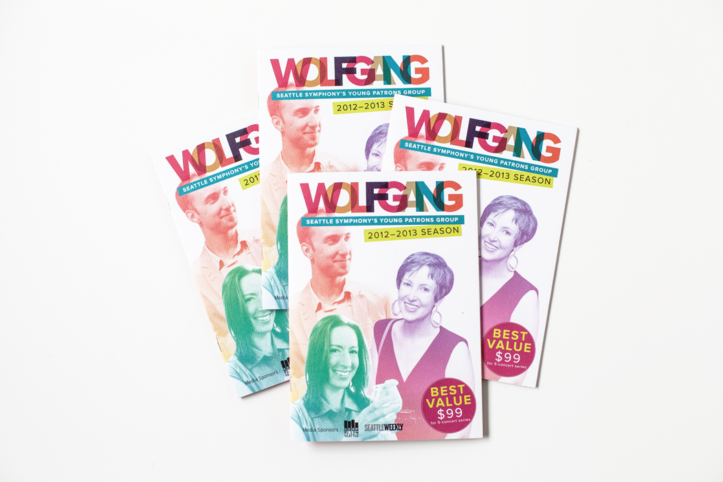 Brochure design for 1213 season Wolfgang Season  |  #modern #brochure #design by Iwona Konarski  |  #print #editorial #layout #iwonak.com