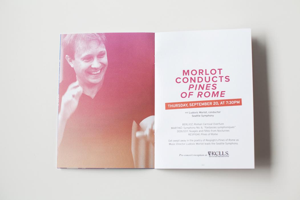 Brochure design for 1213 season Wolfgang Season     #modern #brochure #design by Iwona Konarski     #print #editorial #layout #iwonak.com