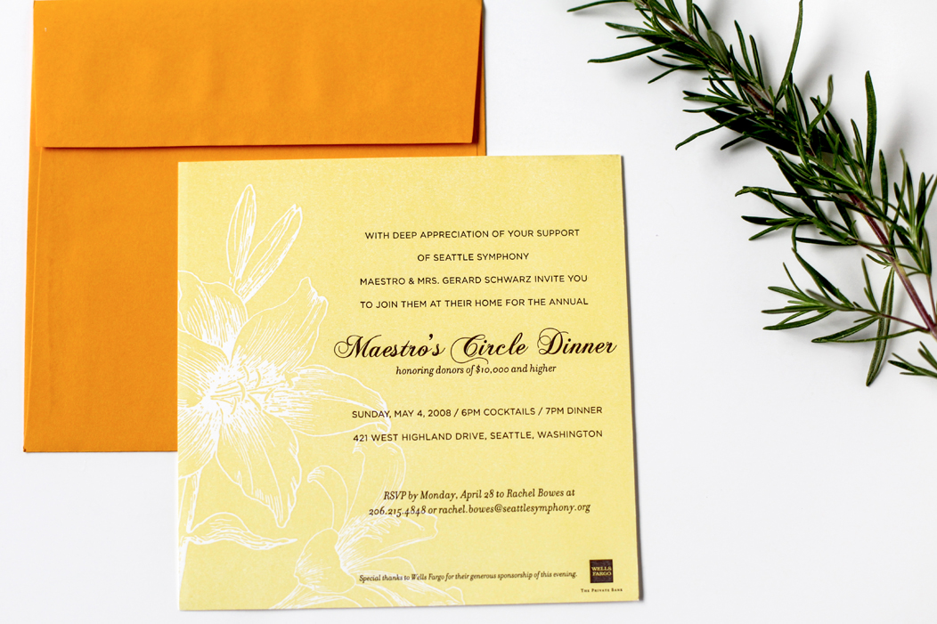 Elegant #letterpress event invitation | Designed by Iwona Konarski  www.iwonak.com | #letterpressinvite #invitation #event #eventInvitation #iwonak