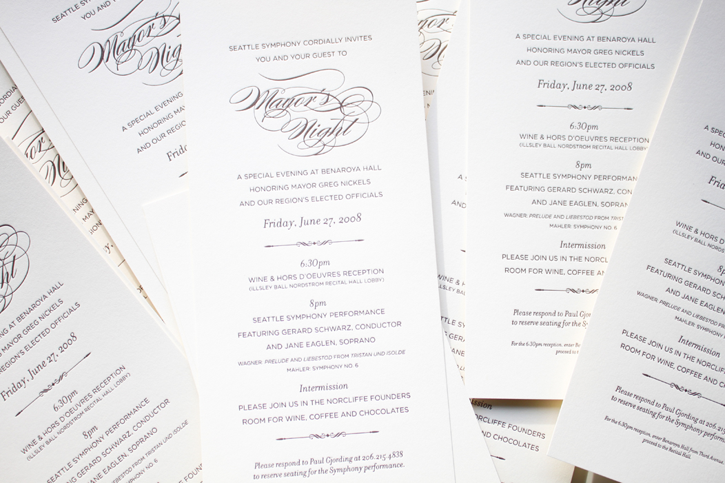 Luxury Event Invitations by Iwona Konarski. #taupe #ivory #luxuriousstock #custom #calligraphyfont #letterpress #elegant