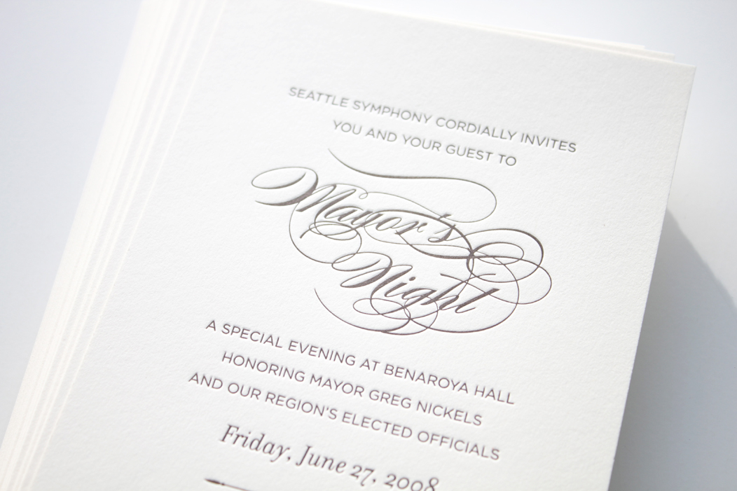Luxury Event Invitations by Iwona Konarski. #taupe #ivory #custom #calligraphyfont #letterpress #elegant
