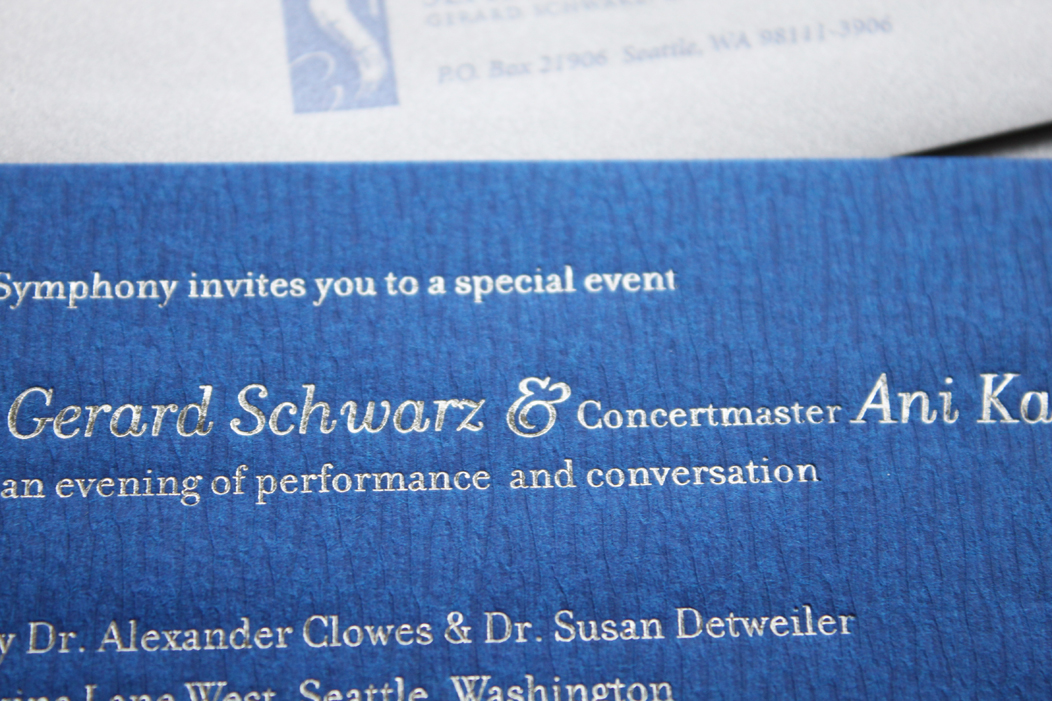 Elegant Silver Foil Event Invitation by IwonaK.com