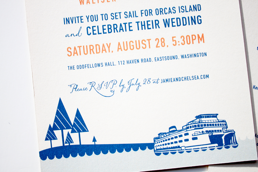 Nautical Theme Wedding Invitation by Iwona Konarski  |  #weddinginvitations #iwonak #nautical #wedding #nauticaltheme #planeandferry