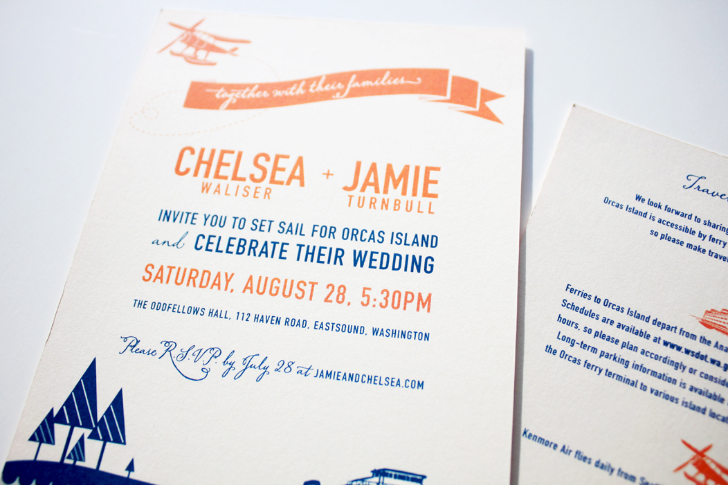 Nautical Wedding Invitation by Iwona Konarski  |  #weddinginvitations #iwonak #nautical #wedding #nauticaltheme #planeandferry