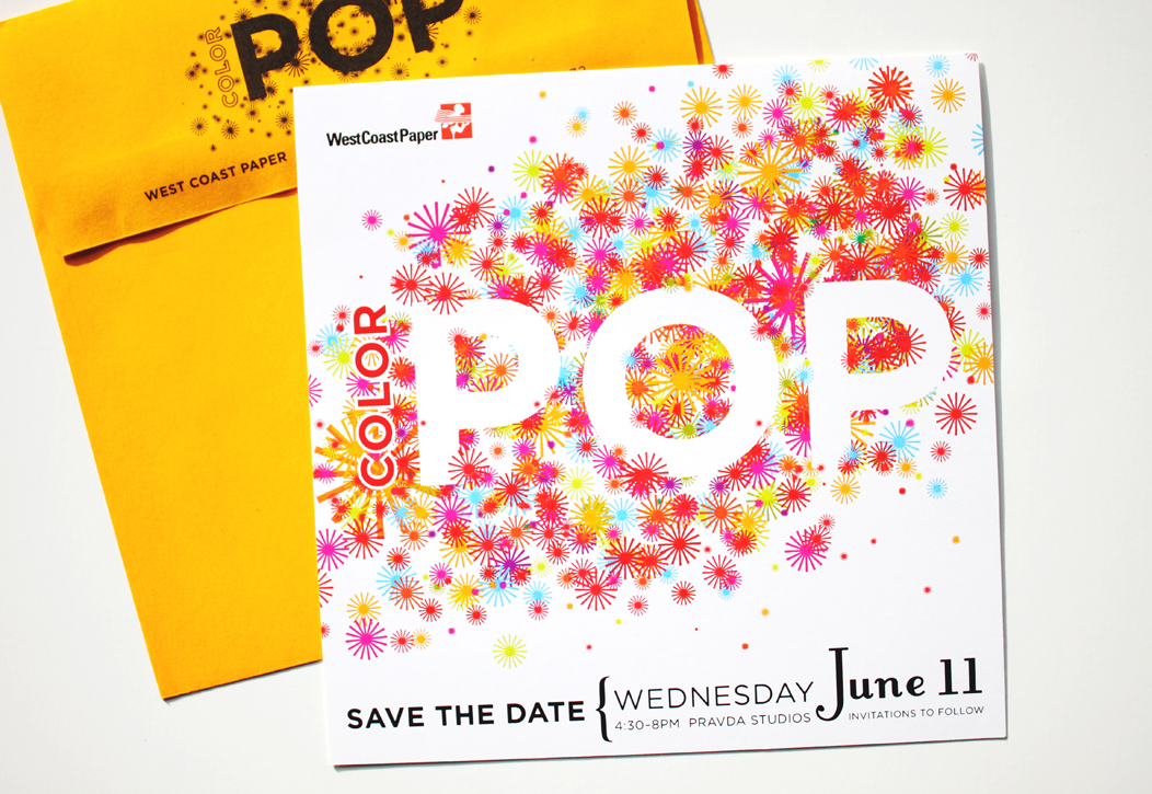 Color Pop Event Invitation by IwonaK.com #corporatestationery #event #invitation #stationery