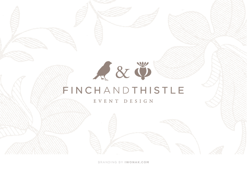 Finch & Thistle Event Design branding and identity by Iwona Konarski |  #finchandthistle #branding #rebrand #stationery #iwonak #beautifulbrand