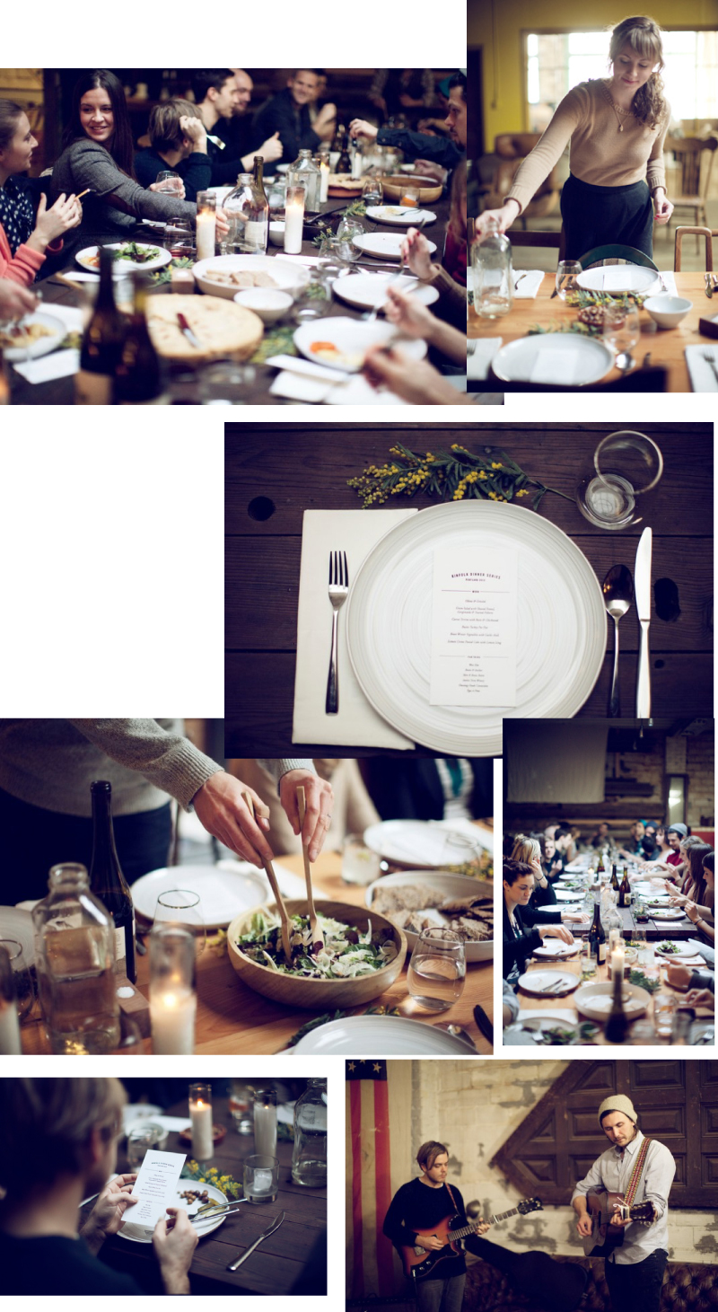 Kinfolk Dinner Series first dinner in portland oregon