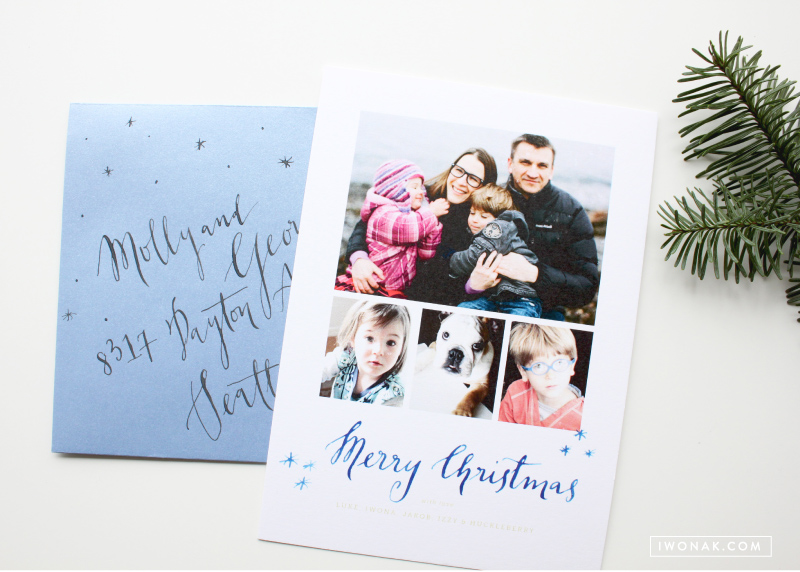 Our Holiday Cards 2013 watercolor calligraphy