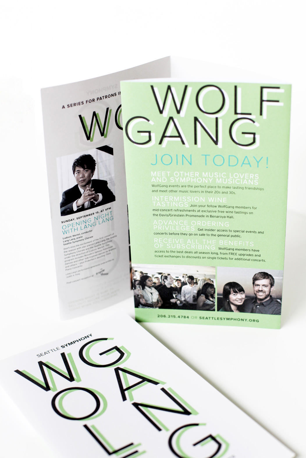 2013–2014 Wolfgang season brochure by Iwona Konarski for Seattle Symphony #brochure #print #design #editorial #layout #typography #brochureDesign #iwonak.com