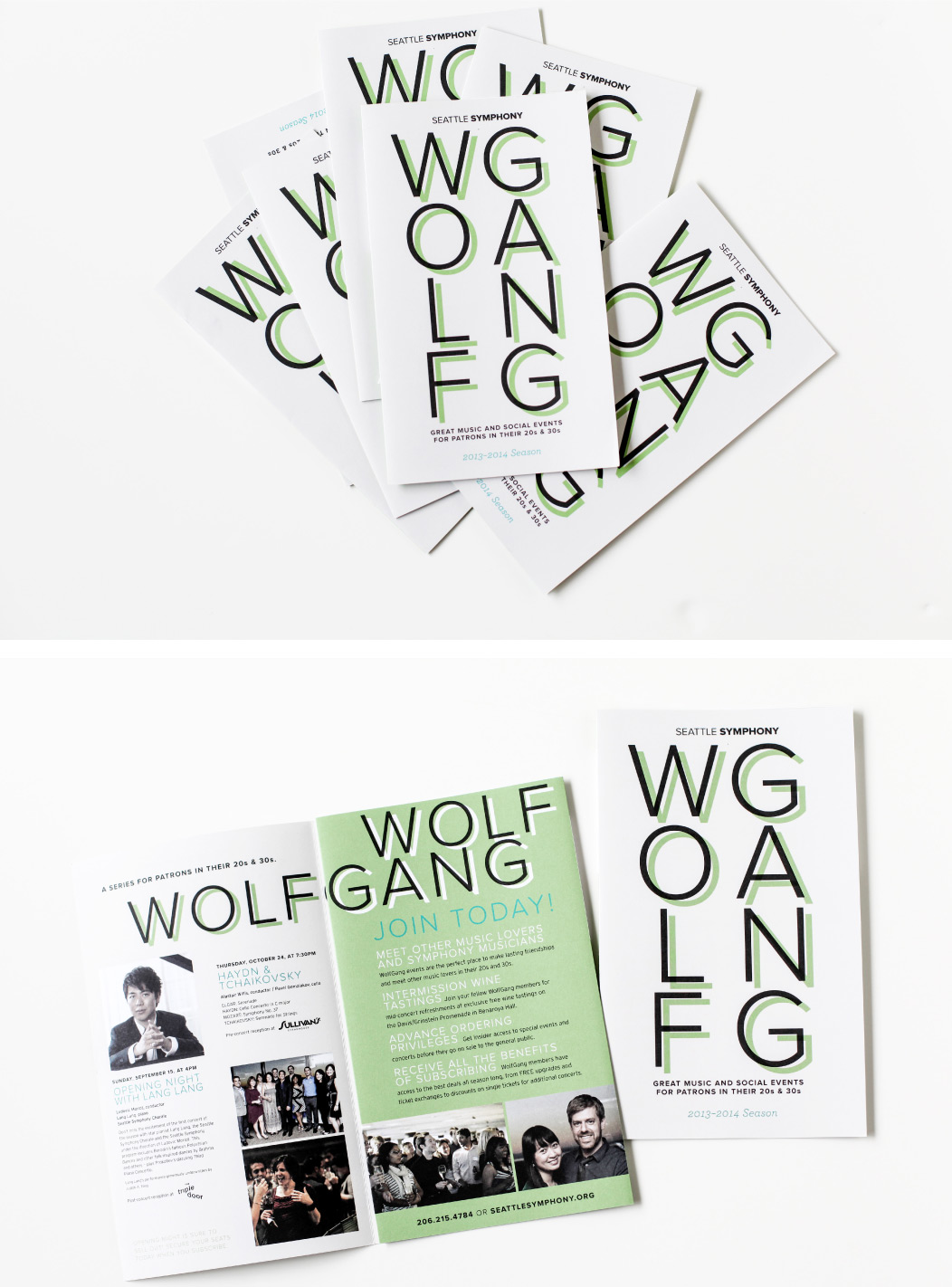 Wolfgang 2013-2014 season brochure by Iwona Konarski for Seattle Symphony #brochure #print #design #editorial #layout #typography #brochureDesign #iwonak.com