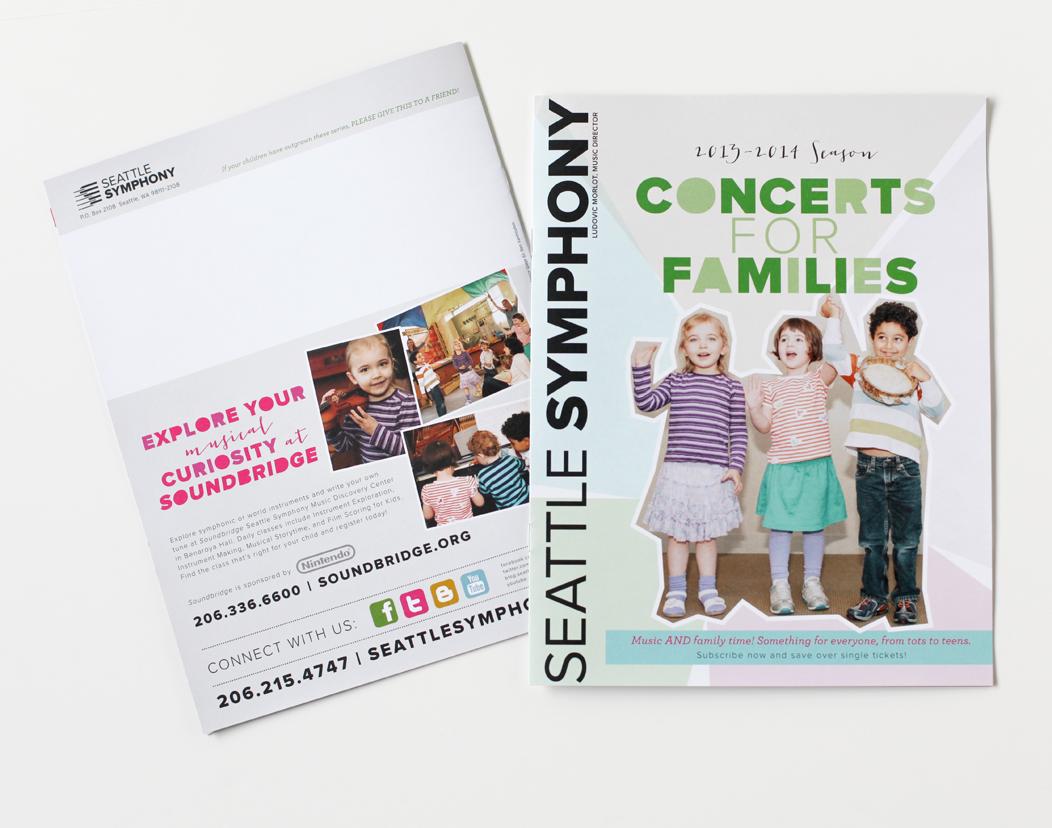 Seattle Symphony's 1314 season #family #brochure by Iwona Konarski  |  #layout #design #typography #print #catalogue #iwonak.com