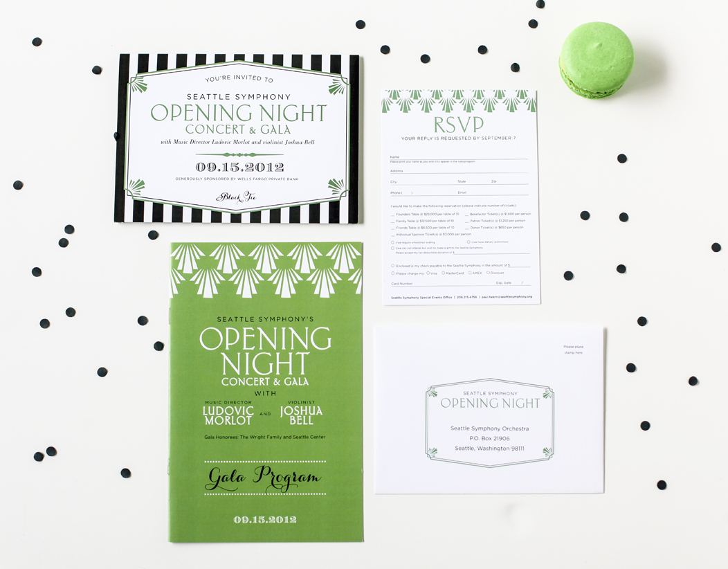 2012 Opening Night event stationery designed by Iwona Konarski  |  www.iwonak.com  | #trifold #invitation #event #stationery #iwonak.com