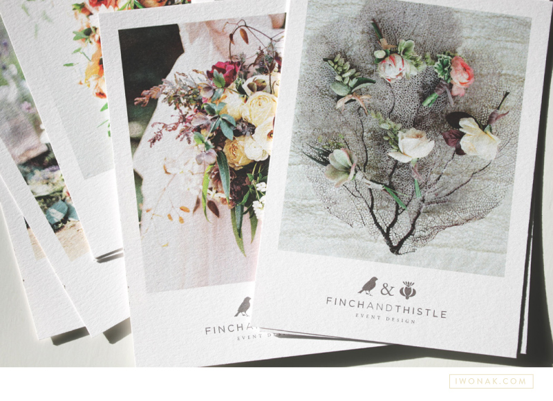 Promo postcards for Finch & Thistle Events by Iwona K   |  #promo #postcards #print #branding #stationery #selfpromo #iwonak #finchandthistleevents