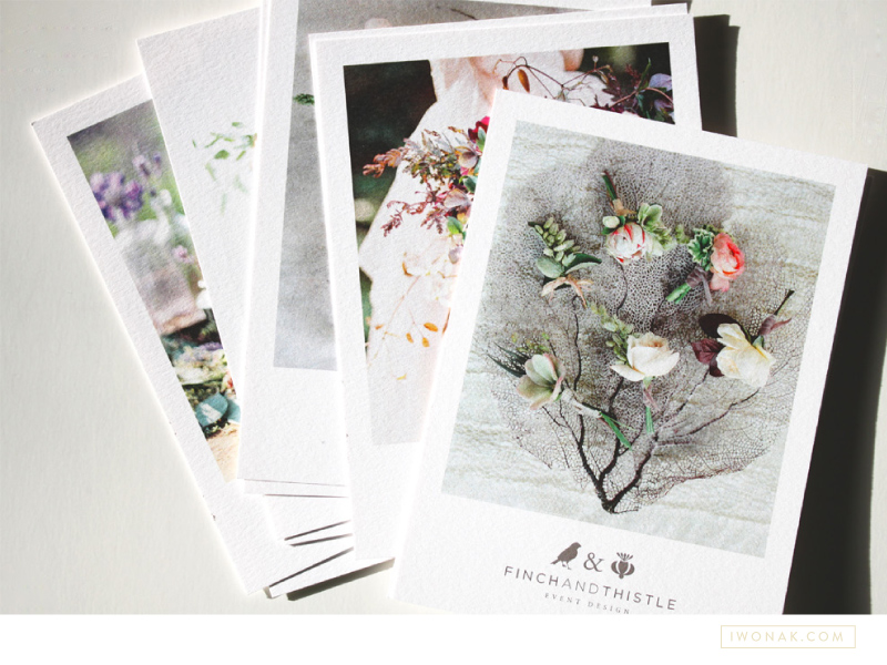 Promotional postcards for Finch & Thistle Events by Iwona K   |  #promo #postcards #print #branding #stationery #selfpromo #iwonak #finchandthistleevents