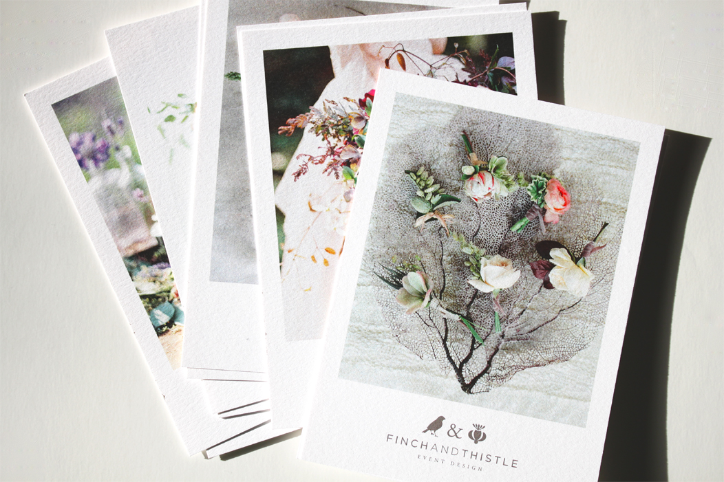 Promo Postcards by Iwona K | #print #selfpromo #promo #postcard #design #iwonak #finchandthistleevents
