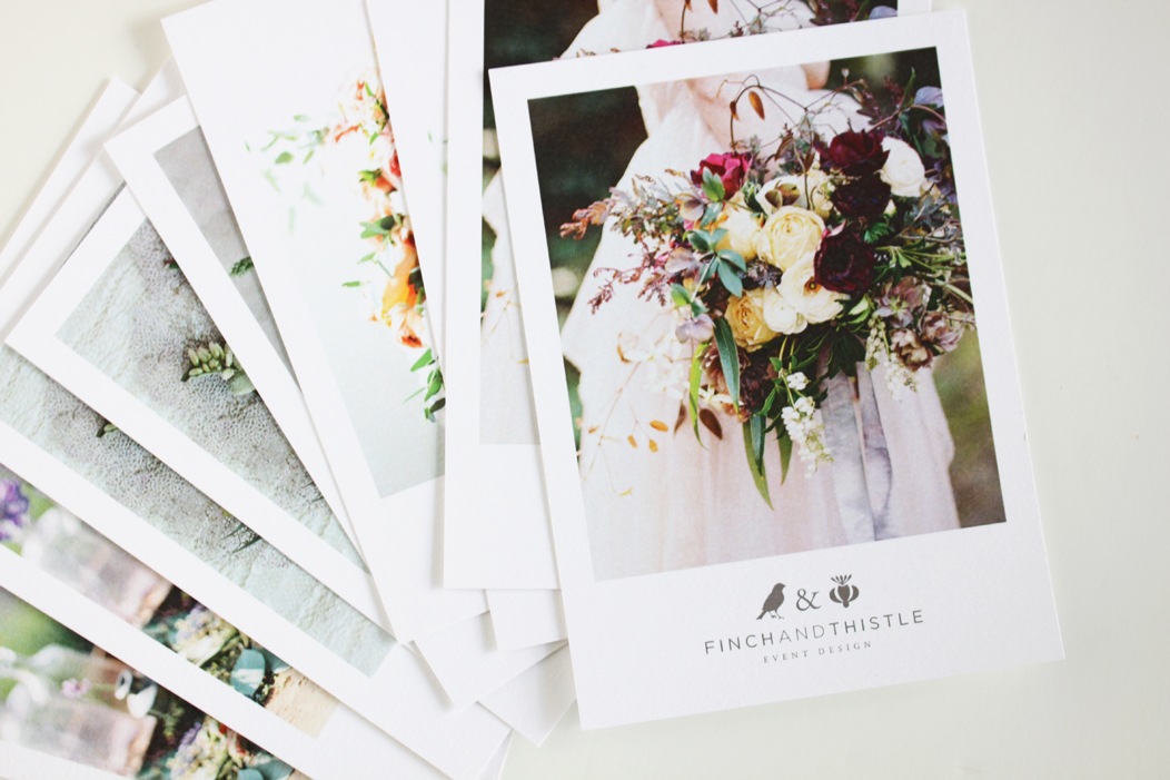 Finch & Thistle Promo Postcards by IwonaK.com | #print #selfpromo #promo #postcard #design #iwonak