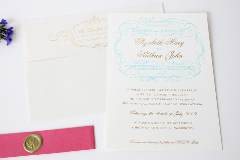 Beth Nate Wedding invitation suite by IwonaK.com