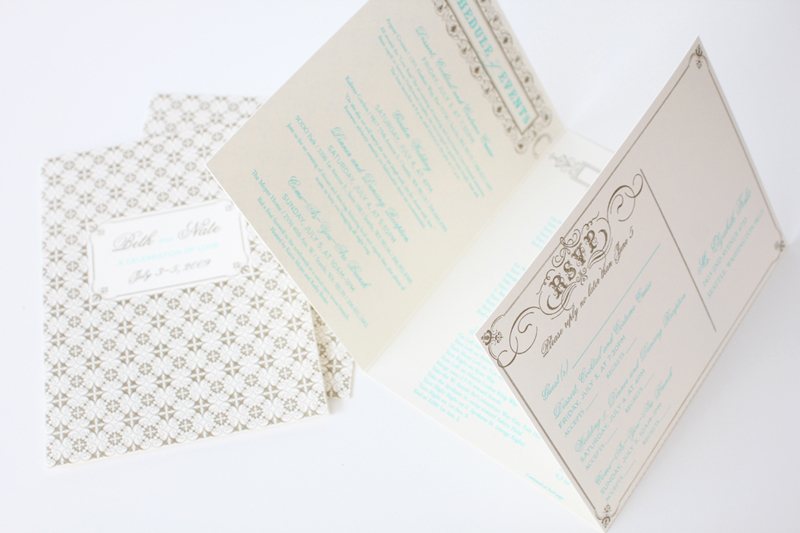Beth Nate Wedding invitation suite by IwonaK.com 4