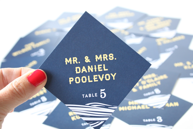 Wedding place cards by seattle designer IwonaK.com