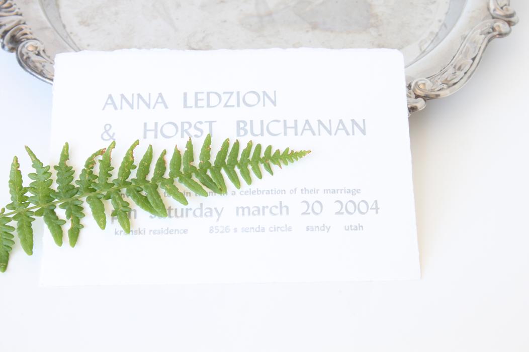 Letterpress Wedding Invitation in Silver Ink -| #letterpress #weddinginvitations #wedding #weddingstationery #stationery #silver #letterpresed #iwonak #print #weddingcollateral #iwonak.com