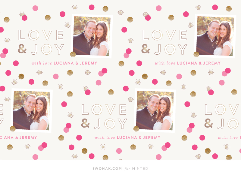Glitter and Dots Personalizable Wrapping Paper available at Minted  // Designed by IwonaK for Minted