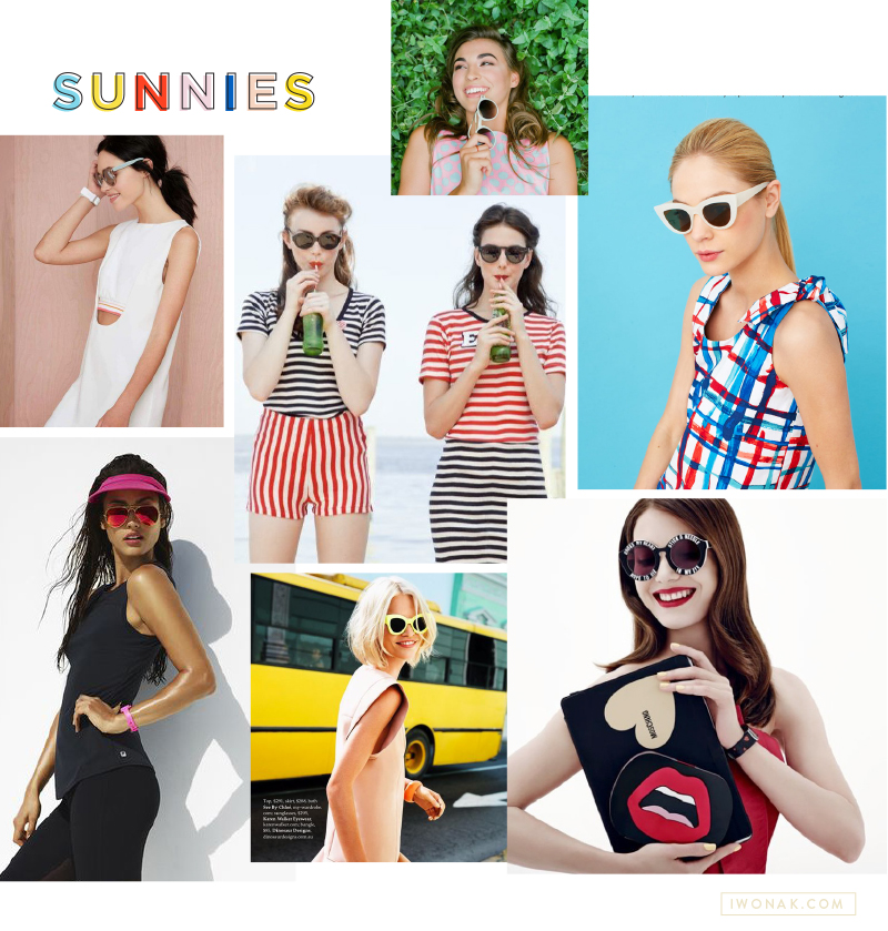Sunnies | Fashion | Summer Fun | Mood Board by IwonaK.com