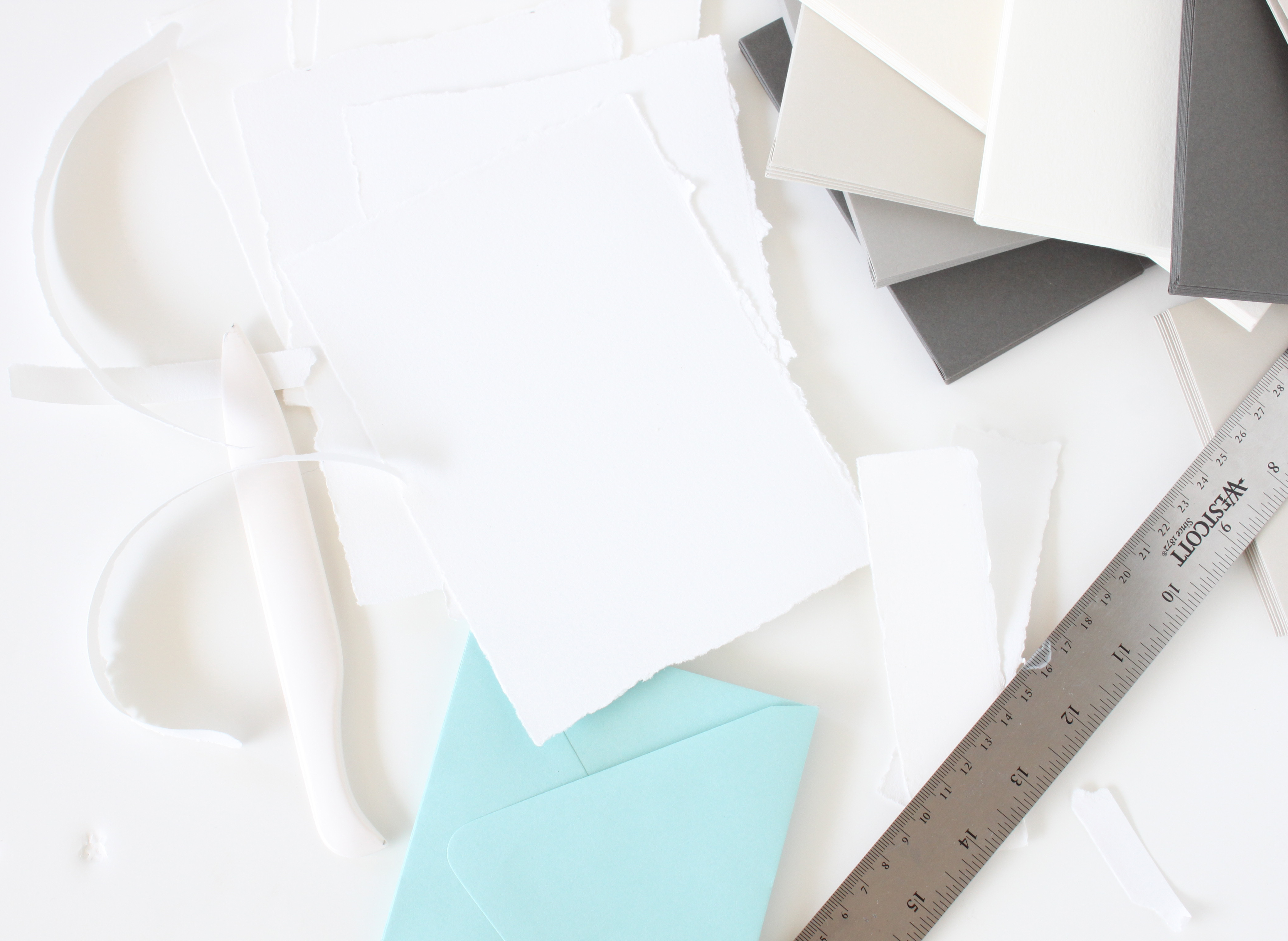 Neutrals | Handmade paper | Envelopes | creative mess via iwonak.com